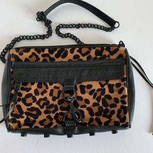 Rebecca Minkoff cheetah calf hair crossbody bag